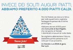 Gli auguri Italiaonline: 4.000 pasti donati alla Comunità di Sant'Egidio
