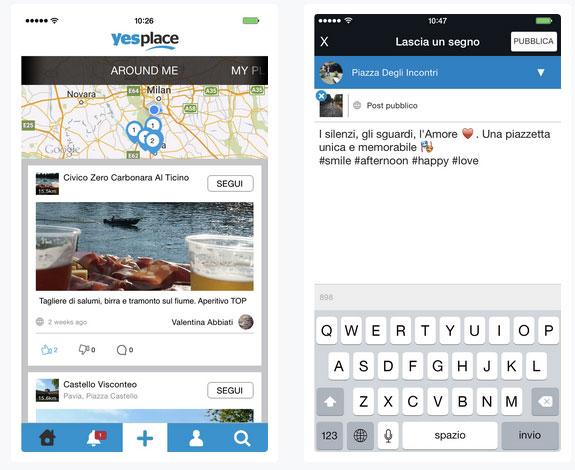 Lascia il segno con Yesplace, il social network dei luoghi