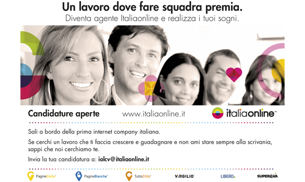 ITALIAONLINE IS RECRUITING MORE THAN 100 ACCOUNTS ALL AROUND ITALY