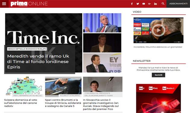 Italiaonline digital partner of Primaonline.it