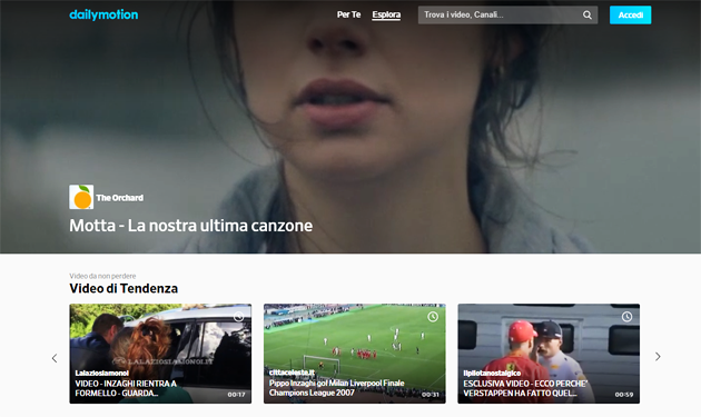 Italiaonline is now Dailymotion's exclusive sales representative in Italy
