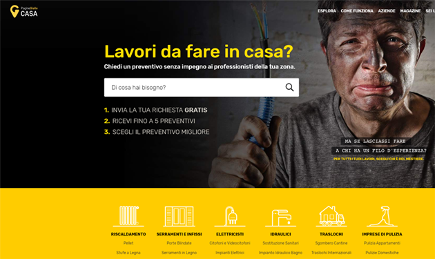 Pagine Gialle leader del digital marketplace con pgcasa.it