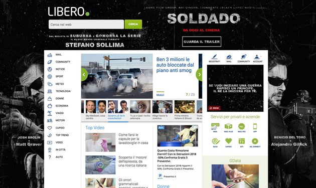 Italiaonline e 01 Distribution insieme per il lancio di Soldado