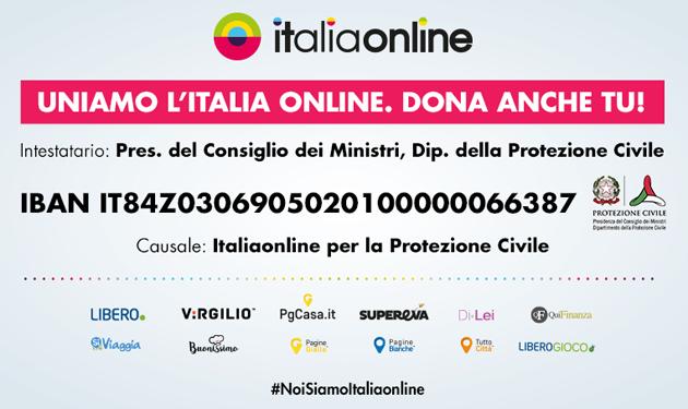 Ore 18, uniamo l'Italia online: sosteniamo la Protezione Civile