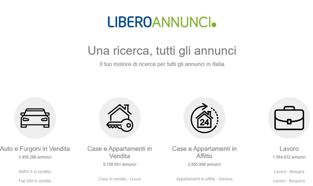 Libero Annunci: the search engine for all ads in Italy