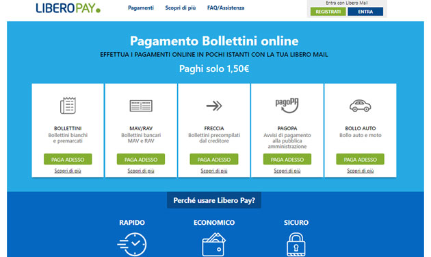 Libero Pay: pay your bills online in a few moments with Libero Mail