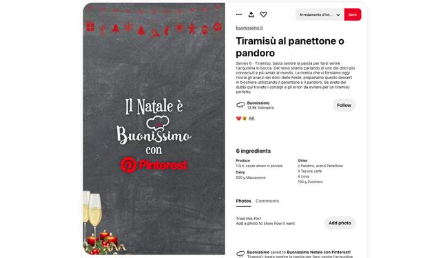 Un esclusivo menù di Natale firmato da Buonissimo in partnership con Pinterest