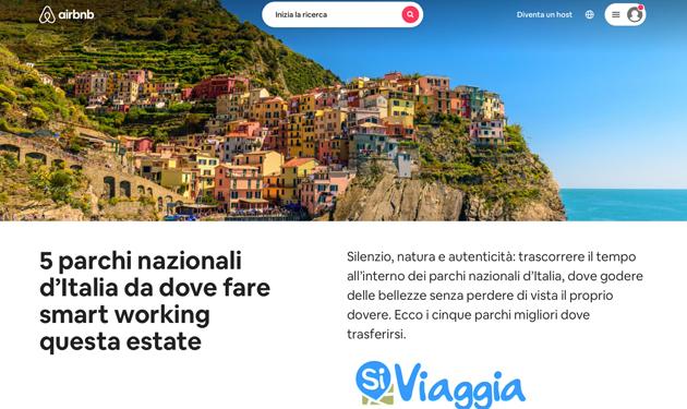 Italiaonline: SiViaggia e Airbnb scelgono le migliori località di vacanza della natura, anche per lo smart working
