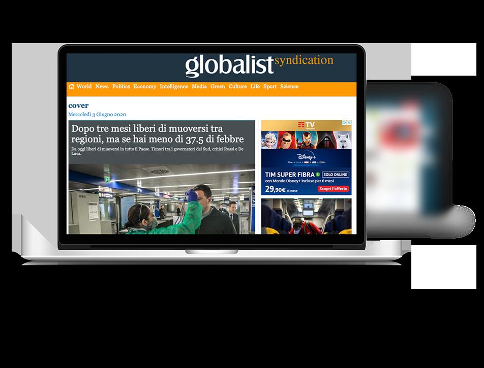 Pubblicità su Globalist Italia