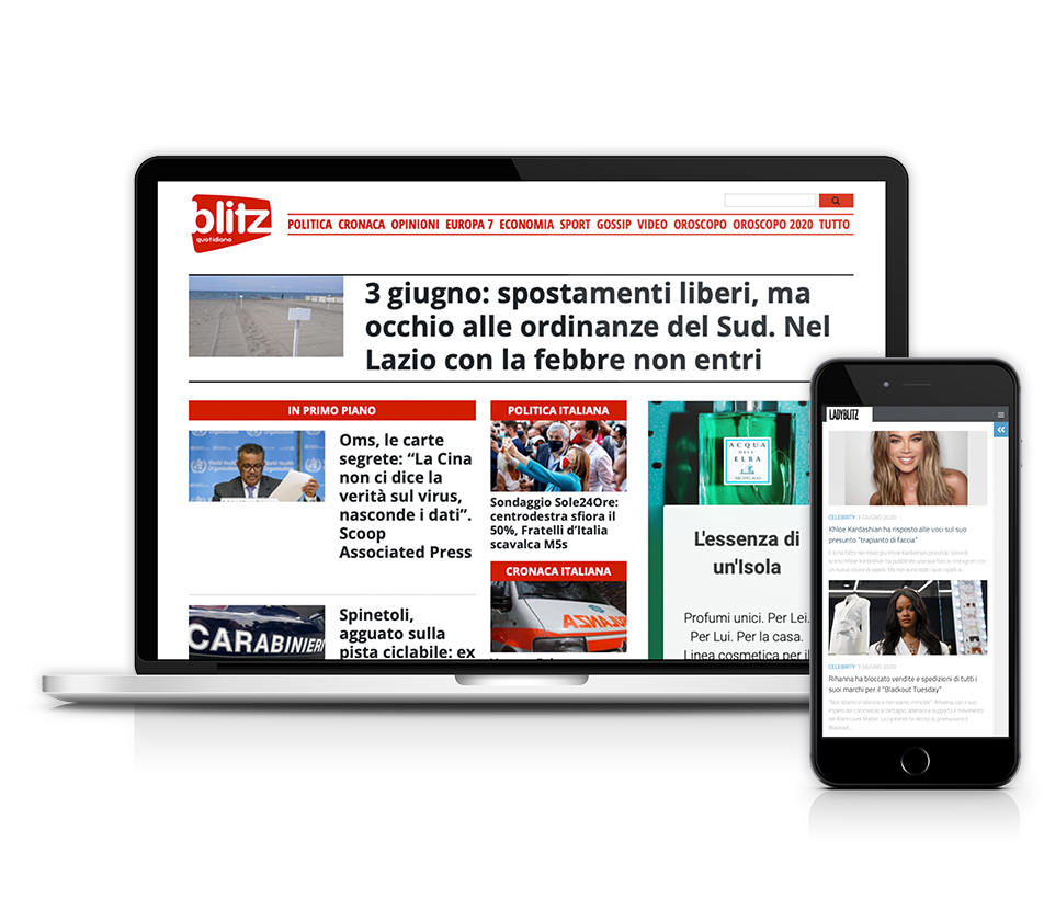 Pubblicità su Blitzquotidiano.it e Ladyblitz.it