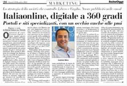 """Italiaonline, digitale a 360 gradi"", Gabriele Mirra su Italia Oggi"
