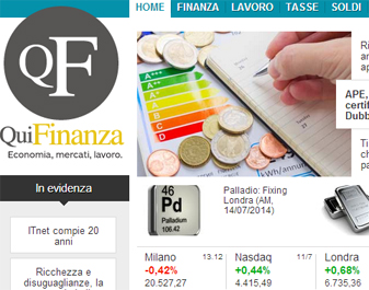 Italiaonline: record-breaking numbers for the vertical portal QuiFinanza