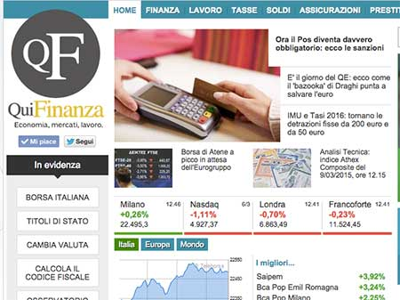 ITALIAONLINE: RECORD NUMBERS FOR QUIFINANZA