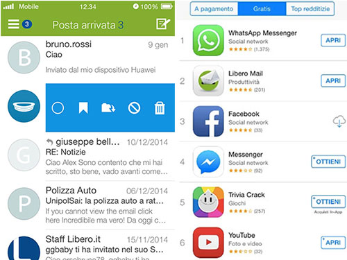THE NEW LIBERO MAIL APP ALREADY AMONG THE MOST DOWNLOADED