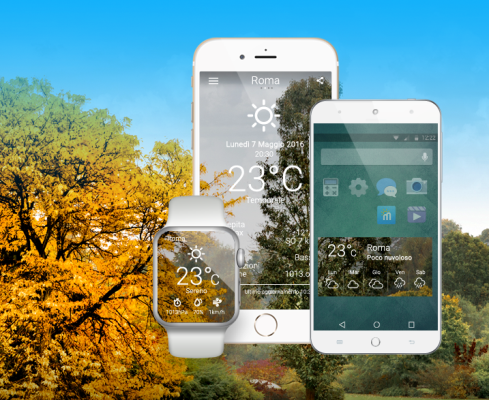 Real Meteo, the app you can wear all around the world