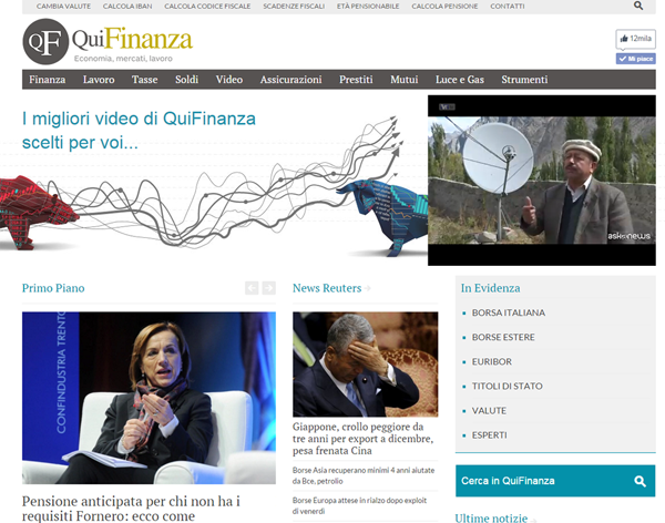 QuiFinanza silver medal in unique audience