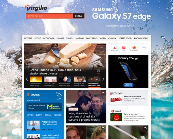 La nuova campagna Samsung Galaxy S7 edge su Libero e Virgilio