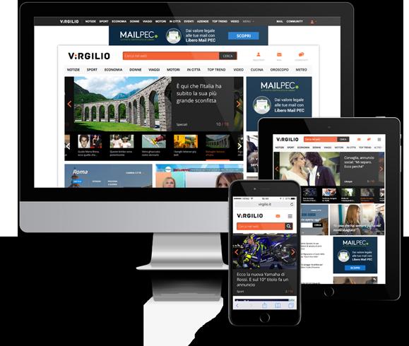 Pubblicità su Virgilio home page