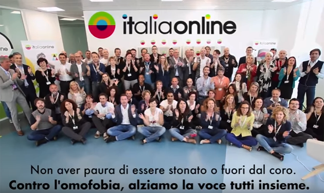 ITALIAONLINE AND ITS EMPLOYEES AGAINST HOMOPHOBIA